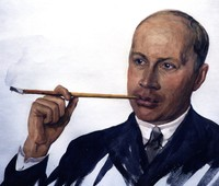 Anna Ostroumova, Portrait of Serge Prokofiev, Paris, 1926, Reproduction, Serge Prokofiev Archive, Rare Book and Manuscript Library, Columbia University