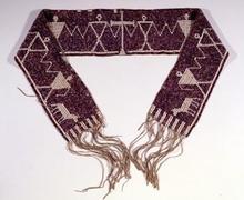 Mohawk wampum belt, c. 1775