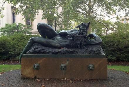 Image Credit: George Grey Barnard, The Great God Pan, installed 1907, bronze, Gift of Edward Severin Clark (C00.825). Photograph by Roberto C. Ferrari, Art Properties, Avery Library, Columbia University.