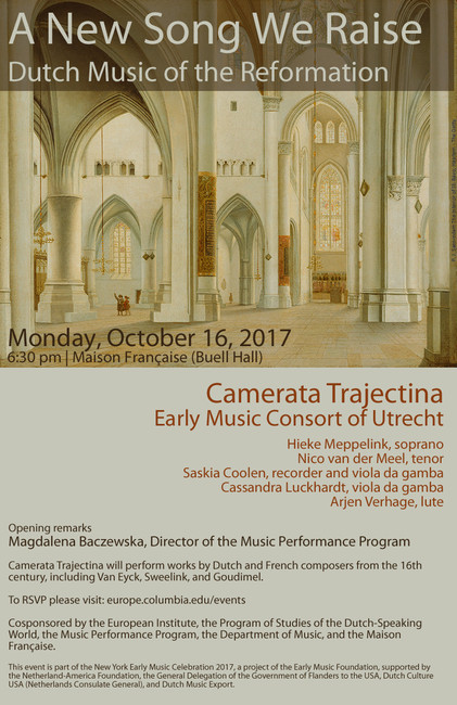 Dutch Music of the Reformation - Columbia University Department of Music