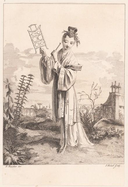 Jean Pierre Louis Laurent Hoüel, Chinoiserie after François Boucher