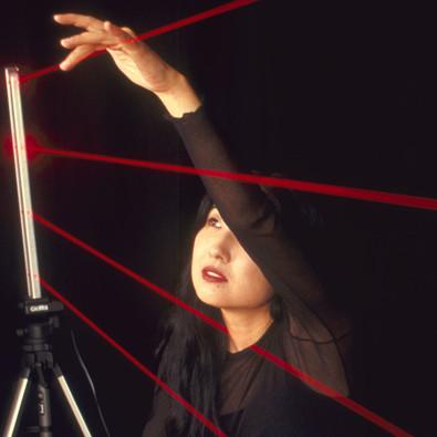 Miya Masaoka with koto and laser sound interface