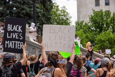 George Floyd protest in Denver, CO on May 31st. Photo by George Alexander.