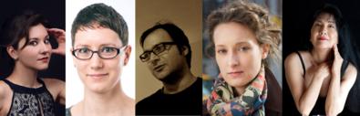 Nina Young, Sky Macklay, Ashkan Behzadi, Zosha Di Castri, and Miya Masaoka