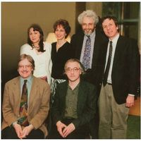 Members of Columbia University Music Department Faculty (from left to right): Fred Lerdahl, Deborah Bradley, Elaine Sisman, Sebastian Currier, Jonathan Kramer, Walter Frisch