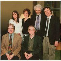 Members of Columbia University Music Department Faculty (from left to right): Fred Lerdahl, Deborah Bradley, Elaine Sisman, Sebastian Currier, Jonathan Kramer, Walter Frisch