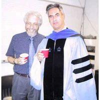 Jonathan Kramer with 2004 Columbia Graduate Miguel Jose Ribeiro-Pereira (PhD Music Theory)