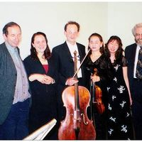 With Sergie Slonimsky and Moebius Ensemble in Russia. (from left to right): Sergei Slonimsky, Deborah Bradley, Matthias Naegele, Emi Resnick, Reiko Uchida, Jonathan Kramer