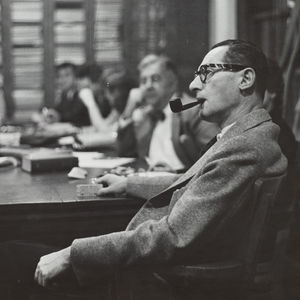 Musicology seminar let by Paul Henry Lang (ca. 1950)